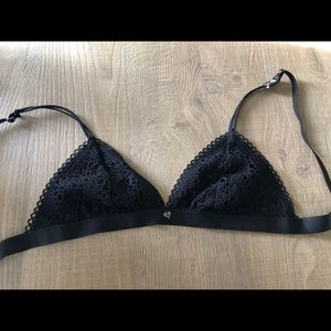 BLACKHEART Lace Bralette Black Bra NEW WITH TAGS.